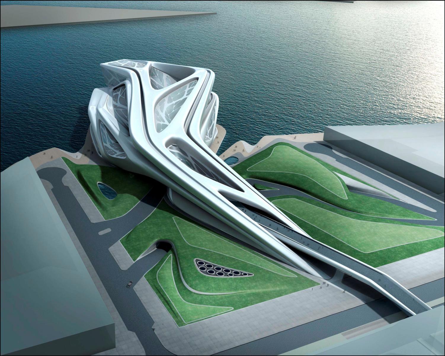 Zaha Hadid Architects, render de su proyecto para el Pabellón de la Expo Zaragoza (2008)
